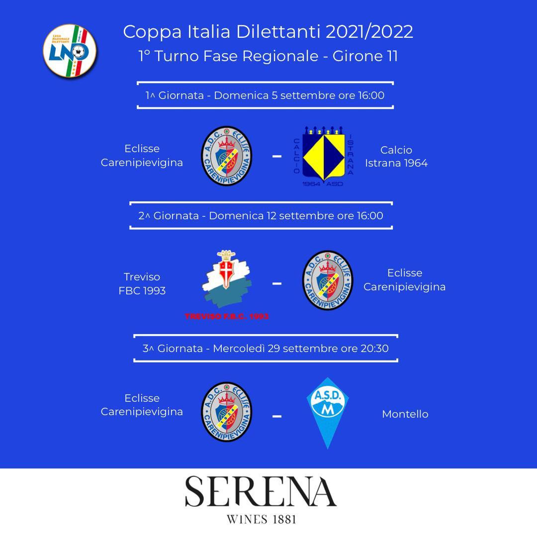Eccellenza: il 5 settembre riparte la Coppa Italia Dilettanti