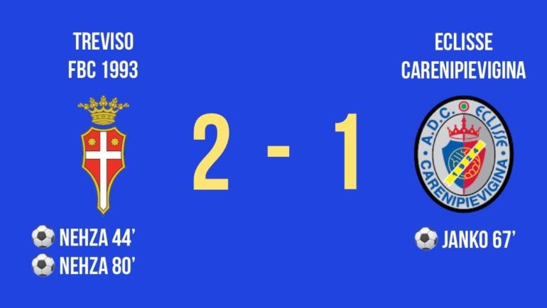 Coppa Italia Dilettanti: nella seconda giornata il Treviso batte l'Eclisse Carenipievigina 2-1